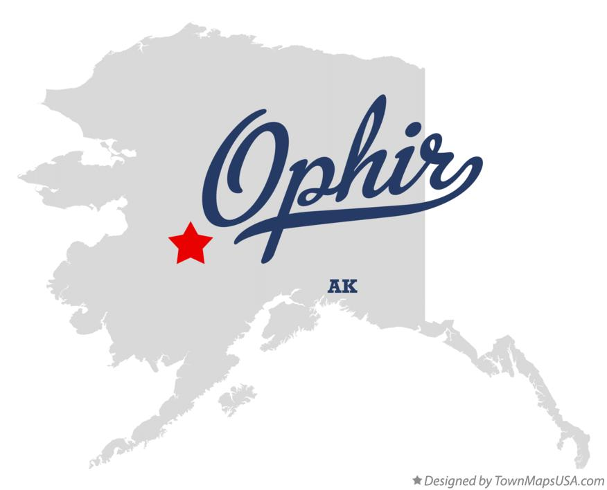 Map of Ophir Alaska AK