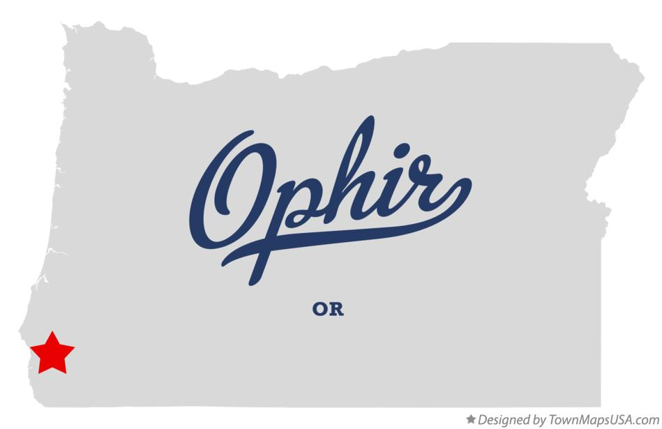 Map of Ophir Oregon OR