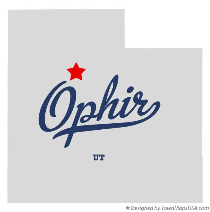 Map of Ophir Utah UT