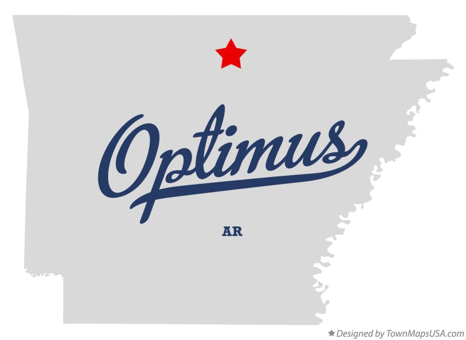 Map of Optimus Arkansas AR