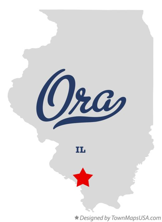 Map of Ora Illinois IL