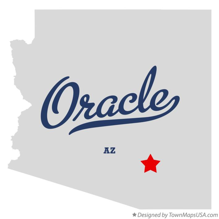 Map of Oracle Arizona AZ