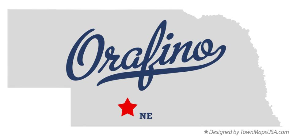 Map of Orafino Nebraska NE
