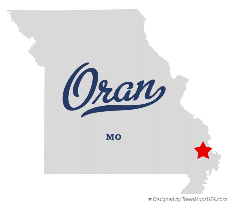 Map of Oran Missouri MO
