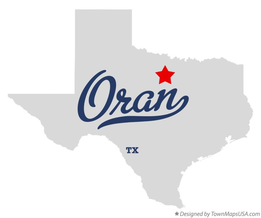 Map of Oran Texas TX