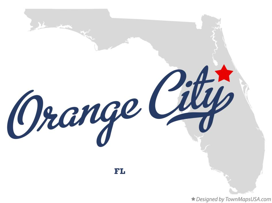 Map of Orange City Florida FL
