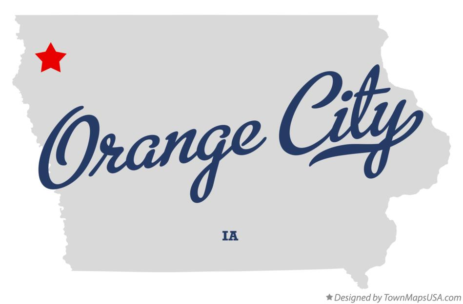 Map of Orange City Iowa IA