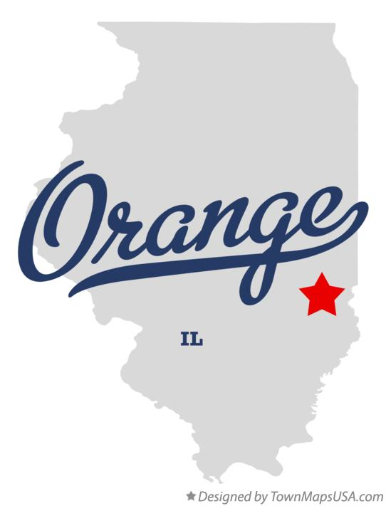 Map of Orange Illinois IL