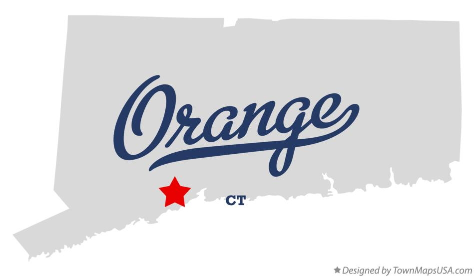 Map of Orange Connecticut CT