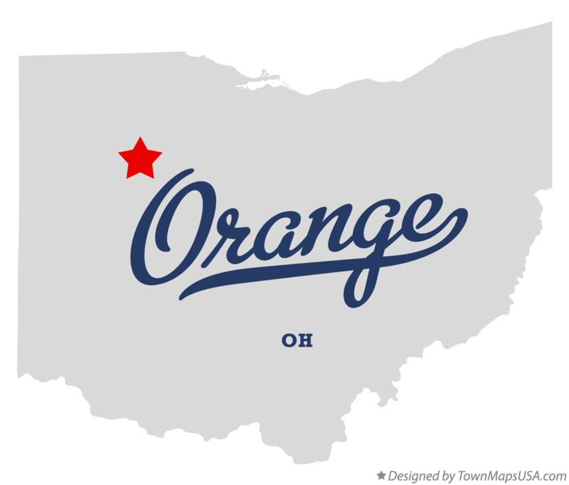 Map of Orange Ohio OH
