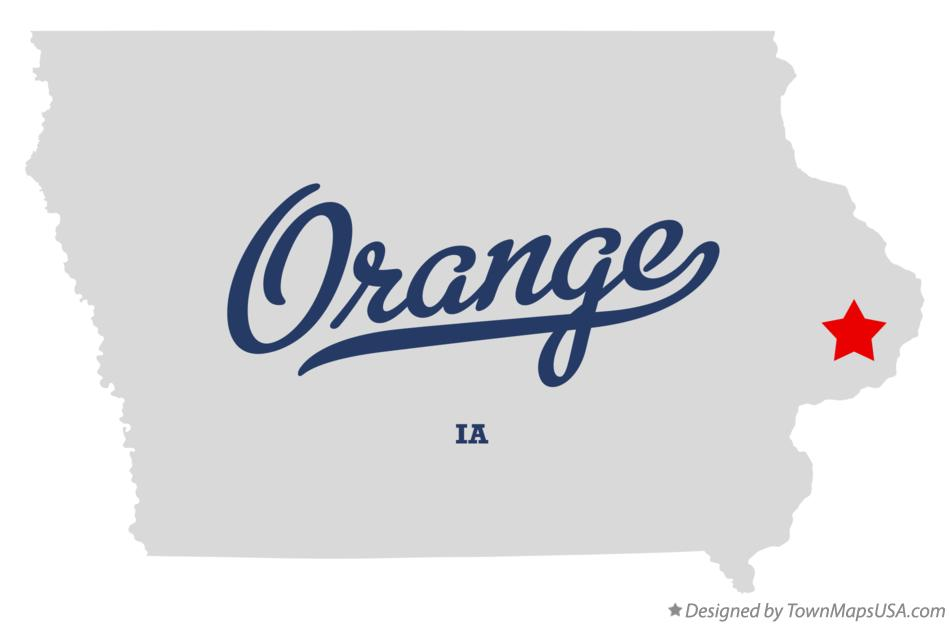 Map of Orange Iowa IA
