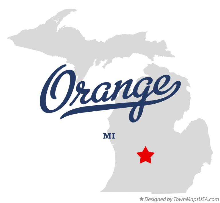 Map of Orange Michigan MI