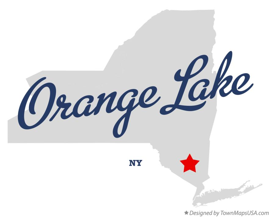 Map of Orange Lake New York NY