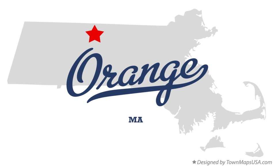 Map of Orange Massachusetts MA
