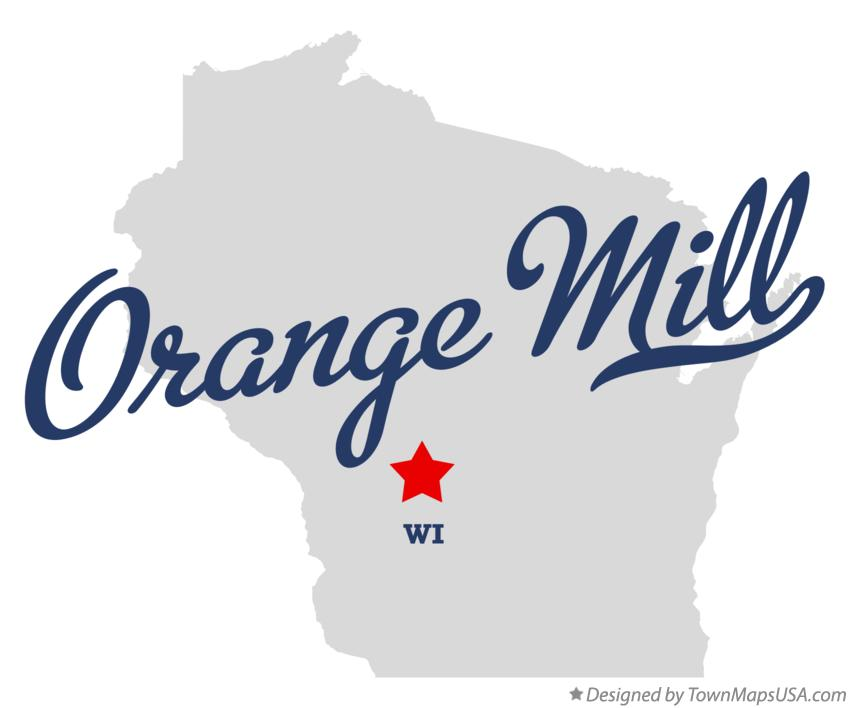 Map of Orange Mill Wisconsin WI