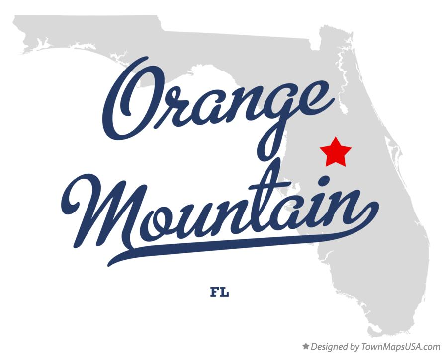 Map of Orange Mountain Florida FL