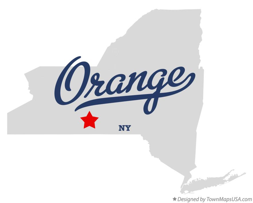 Map of Orange New York NY