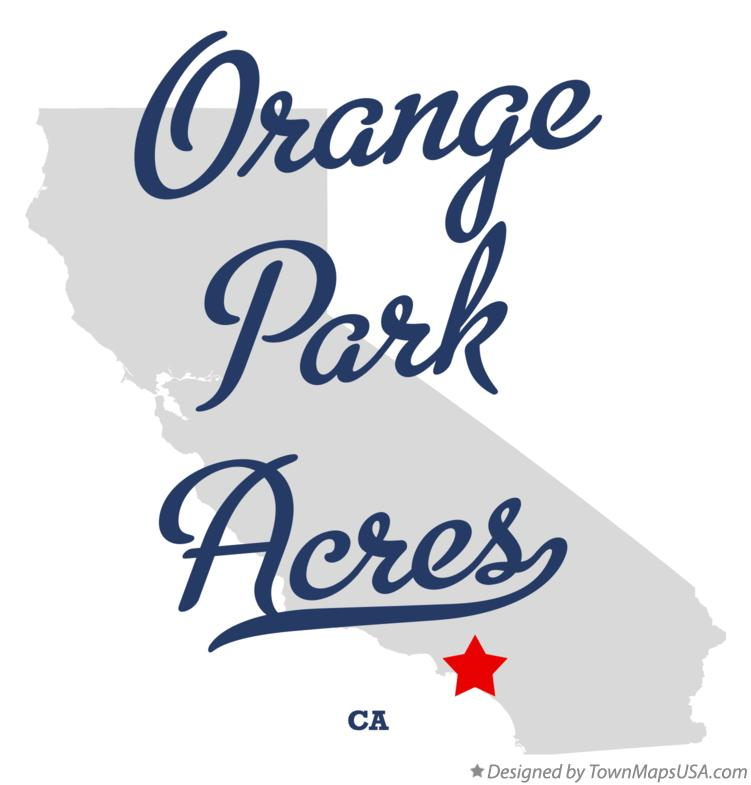 Map of Orange Park Acres California CA