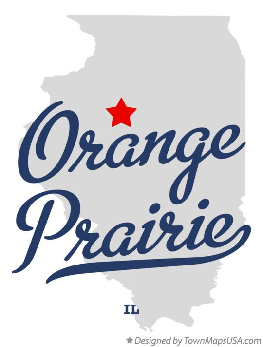 Map of Orange Prairie Illinois IL