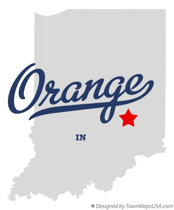 Map of Orange Indiana IN