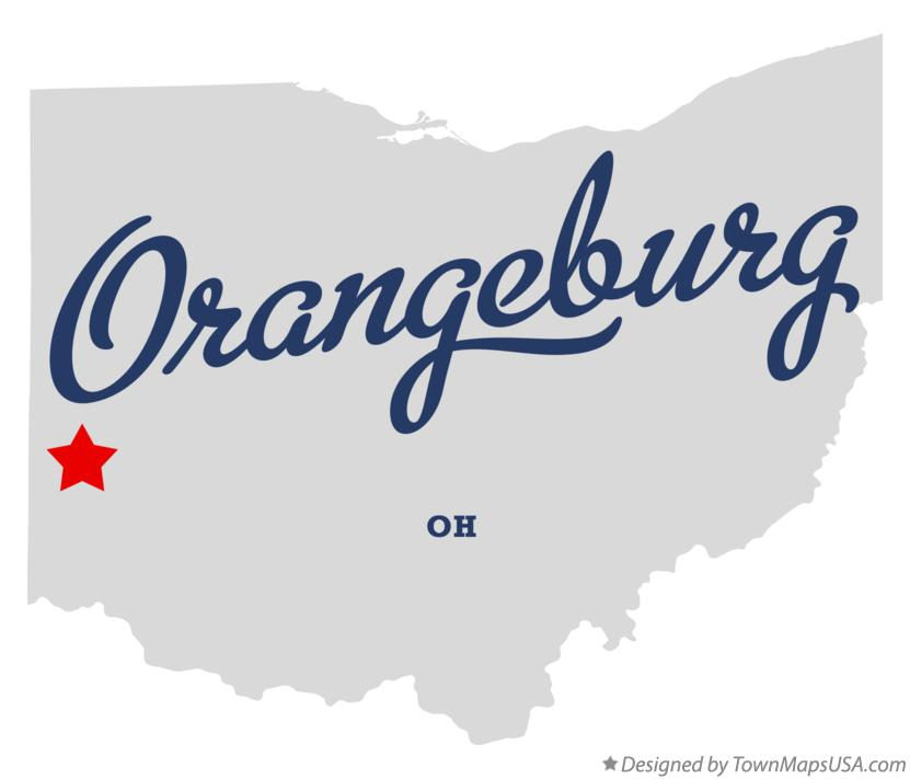 Map of Orangeburg Ohio OH