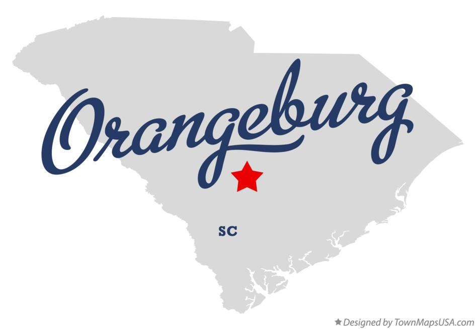 Map of Orangeburg South Carolina SC