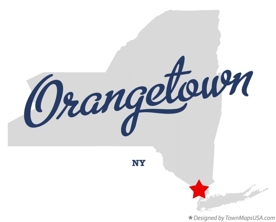 Map of Orangetown New York NY
