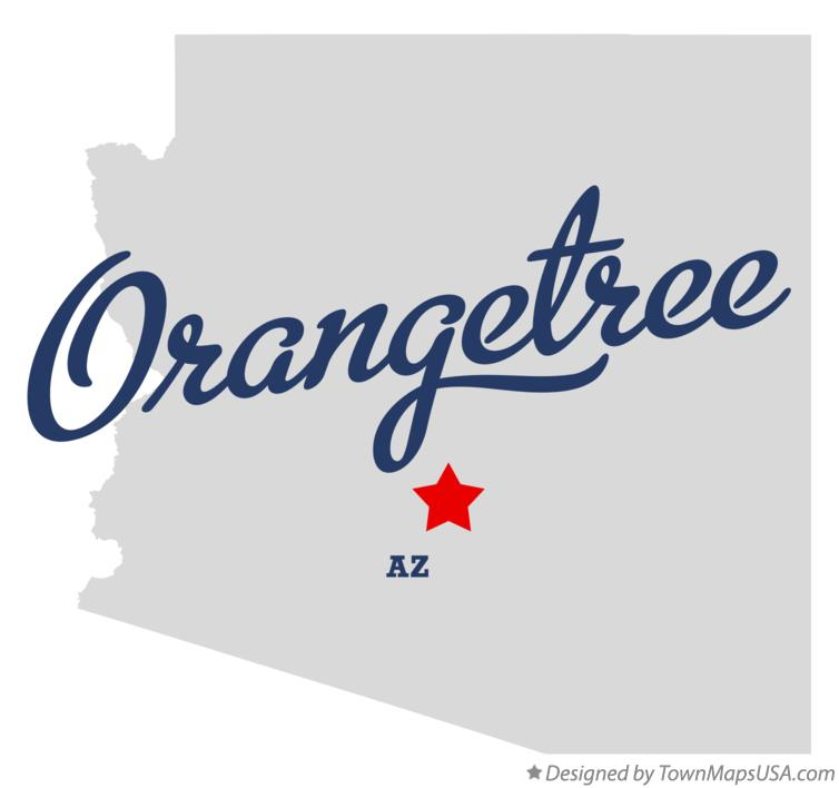Map of Orangetree Arizona AZ
