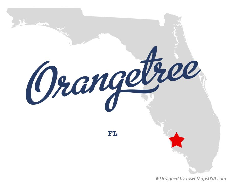 Map of Orangetree Florida FL
