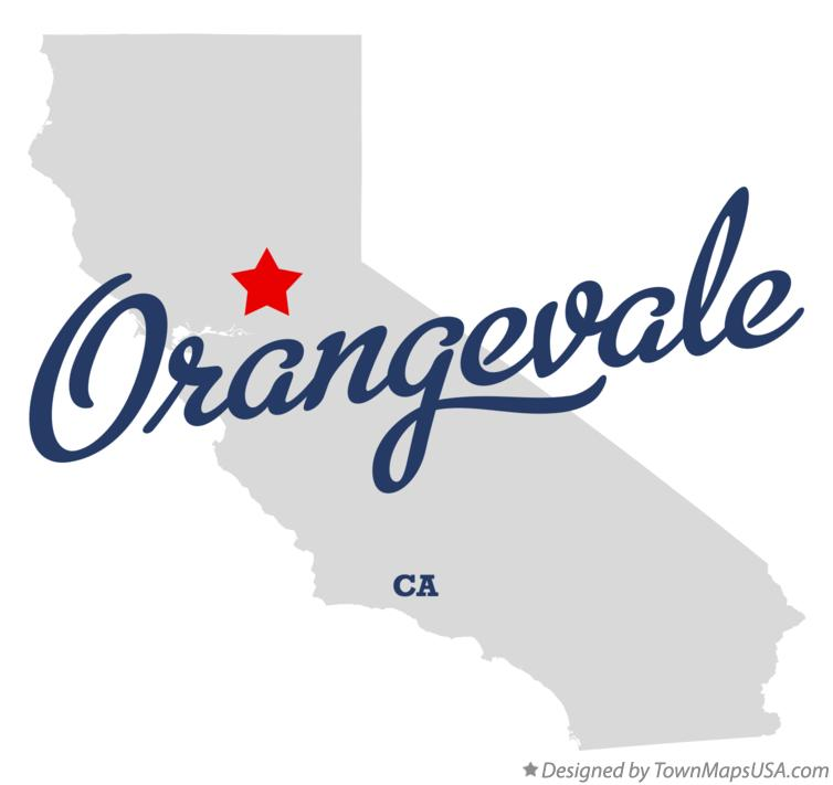 Map of Orangevale California CA
