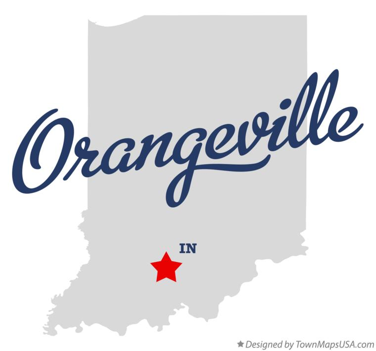 Map of Orangeville Indiana IN