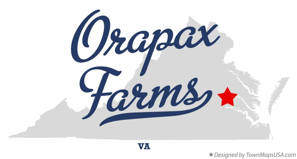 Map of Orapax Farms Virginia VA