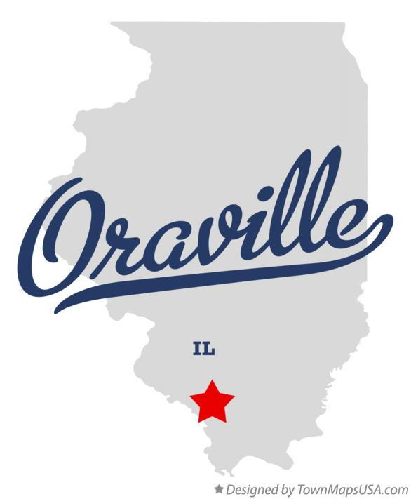 Map of Oraville Illinois IL