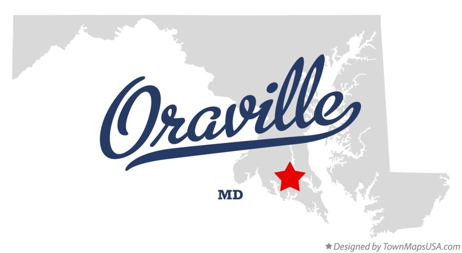 Map of Oraville Maryland MD