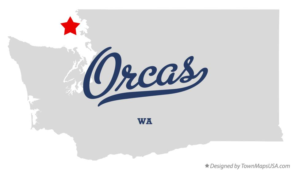Map of Orcas Washington WA
