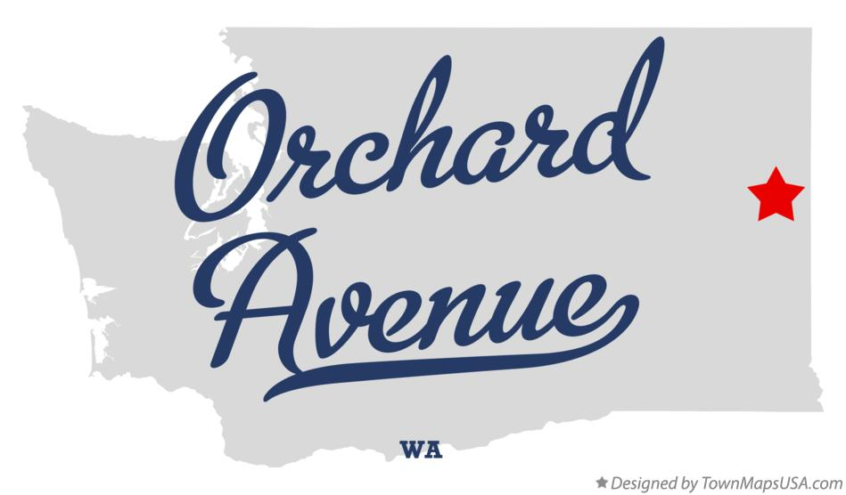 Map of Orchard Avenue Washington WA
