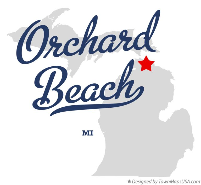 Map of Orchard Beach Michigan MI