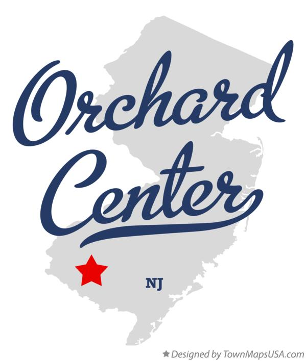 Map of Orchard Center New Jersey NJ