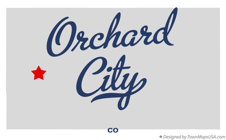 Map of Orchard City Colorado CO