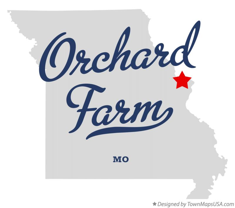Map of Orchard Farm Missouri MO