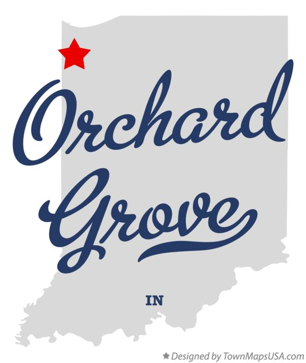 Map of Orchard Grove Indiana IN