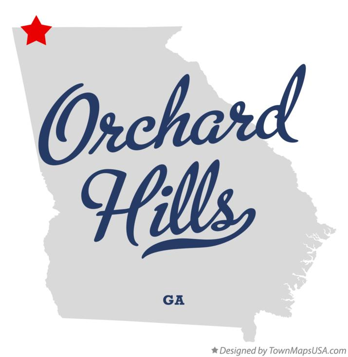 Map of Orchard Hills Georgia GA