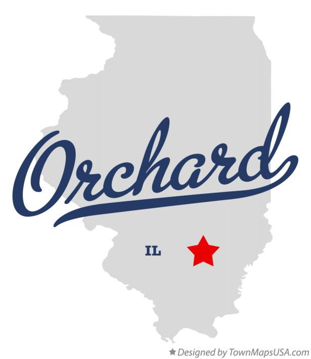 Map of Orchard Illinois IL