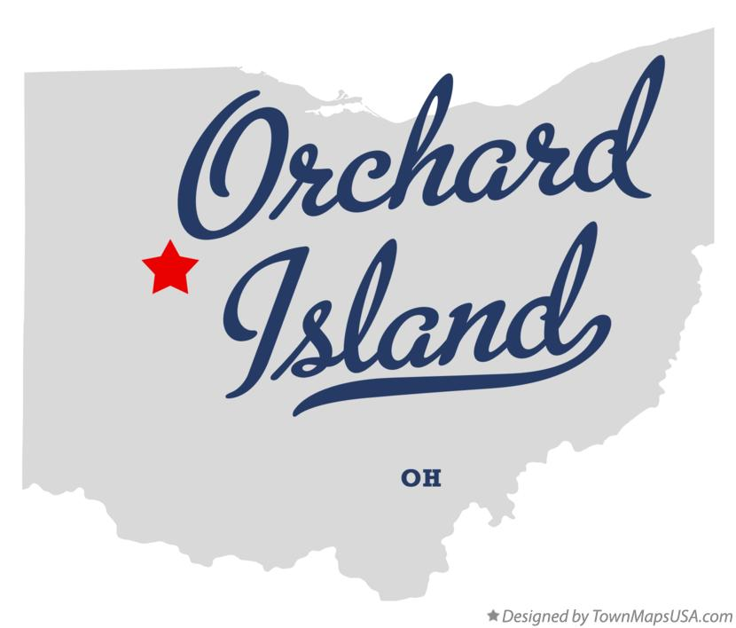 Map of Orchard Island Ohio OH