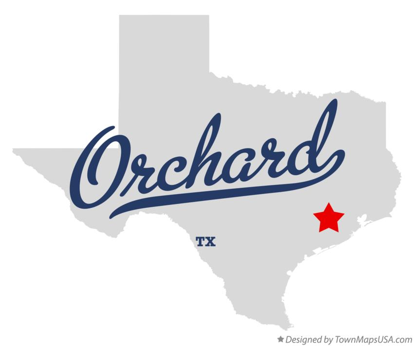 Map of Orchard Texas TX