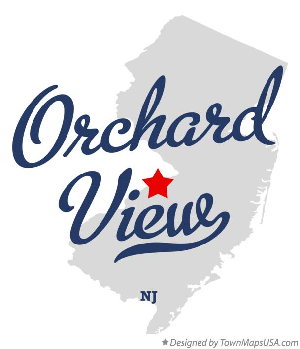 Map of Orchard View New Jersey NJ