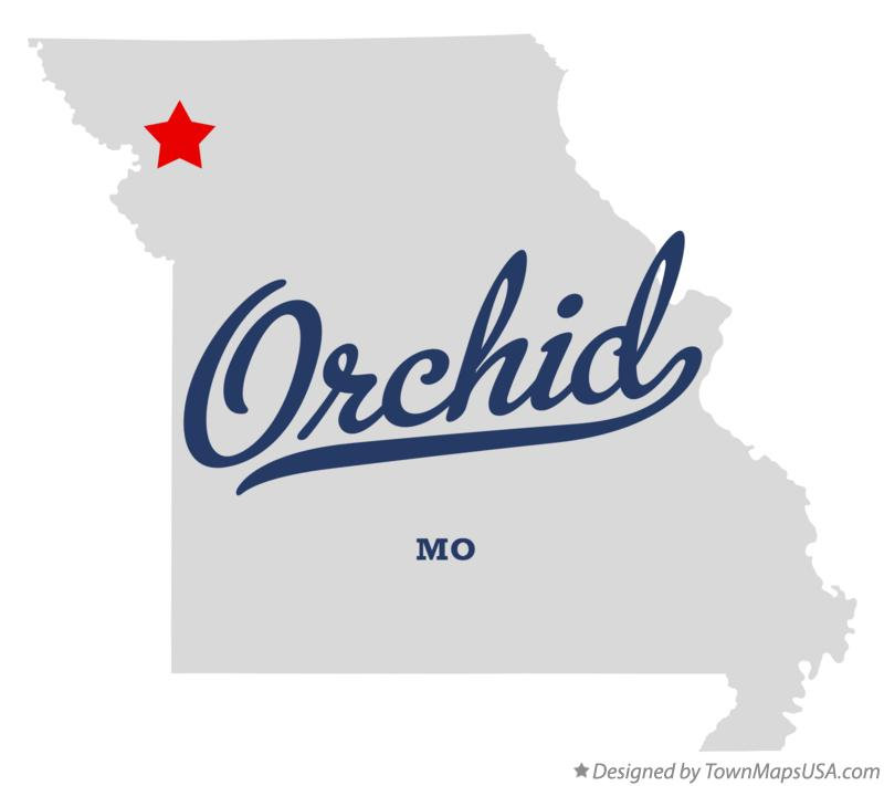 Map of Orchid Missouri MO