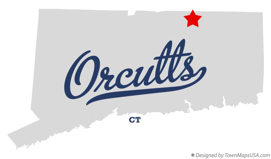 Map of Orcutts Connecticut CT