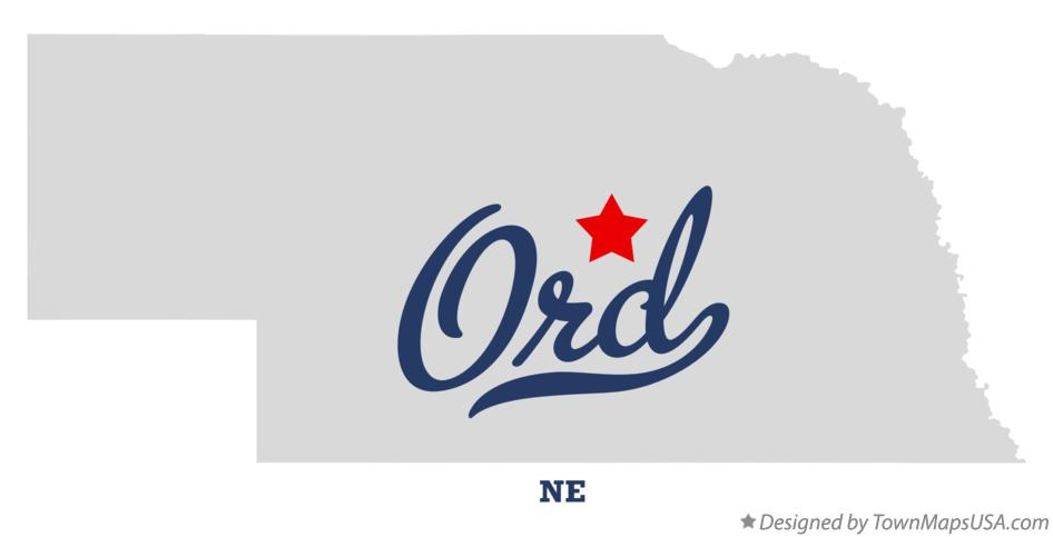 Map of Ord Nebraska NE