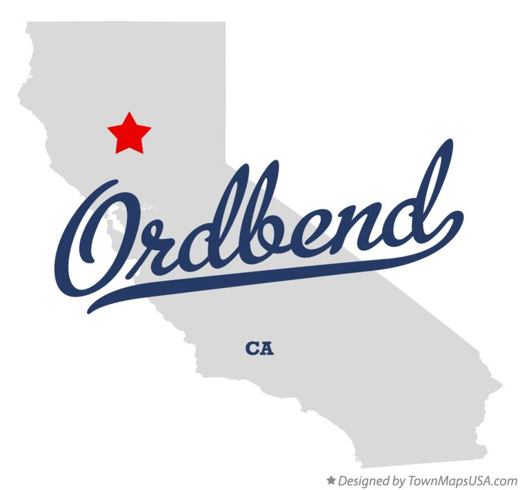 Map of Ordbend California CA